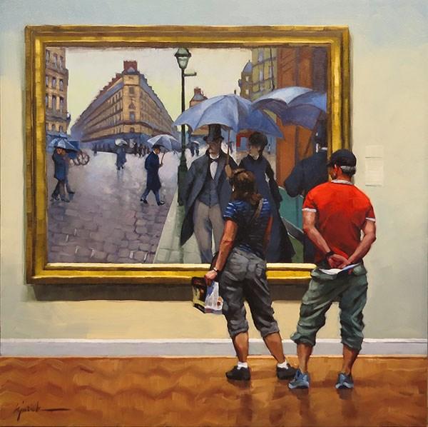 """Rainy Day People"" original fine art by Karin Jurick"