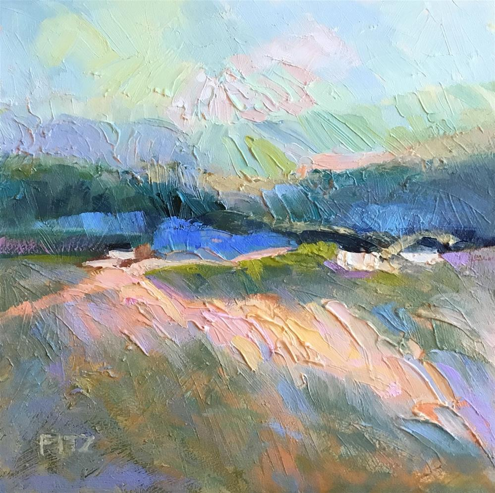 """Pastures"" original fine art by Charlotte Fitzgerald"