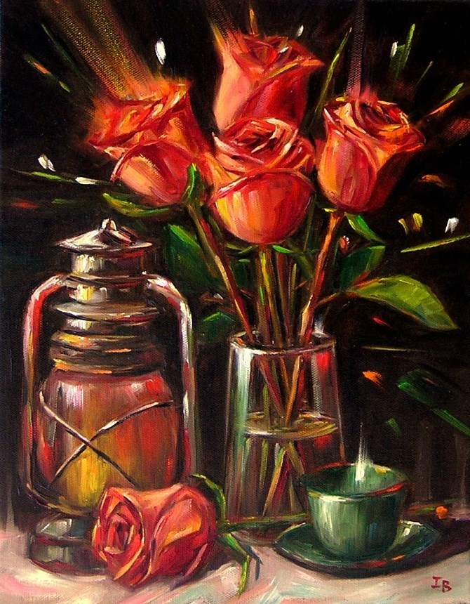 """Nocturne"" original fine art by Irina Beskina"