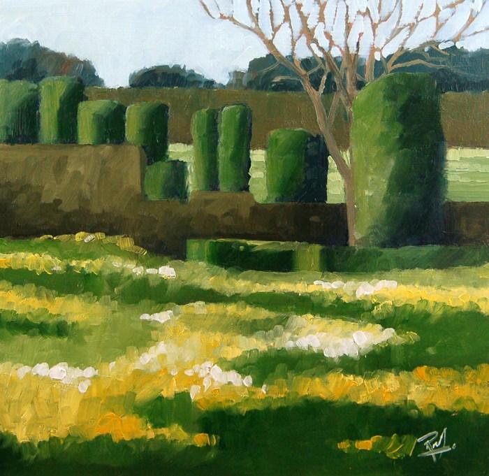 """No 450 Spring Colour"" original fine art by Robin J Mitchell"