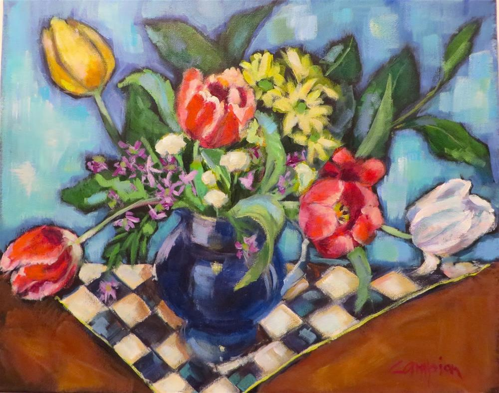 """792 Art in Bloom"" original fine art by Diane Campion"