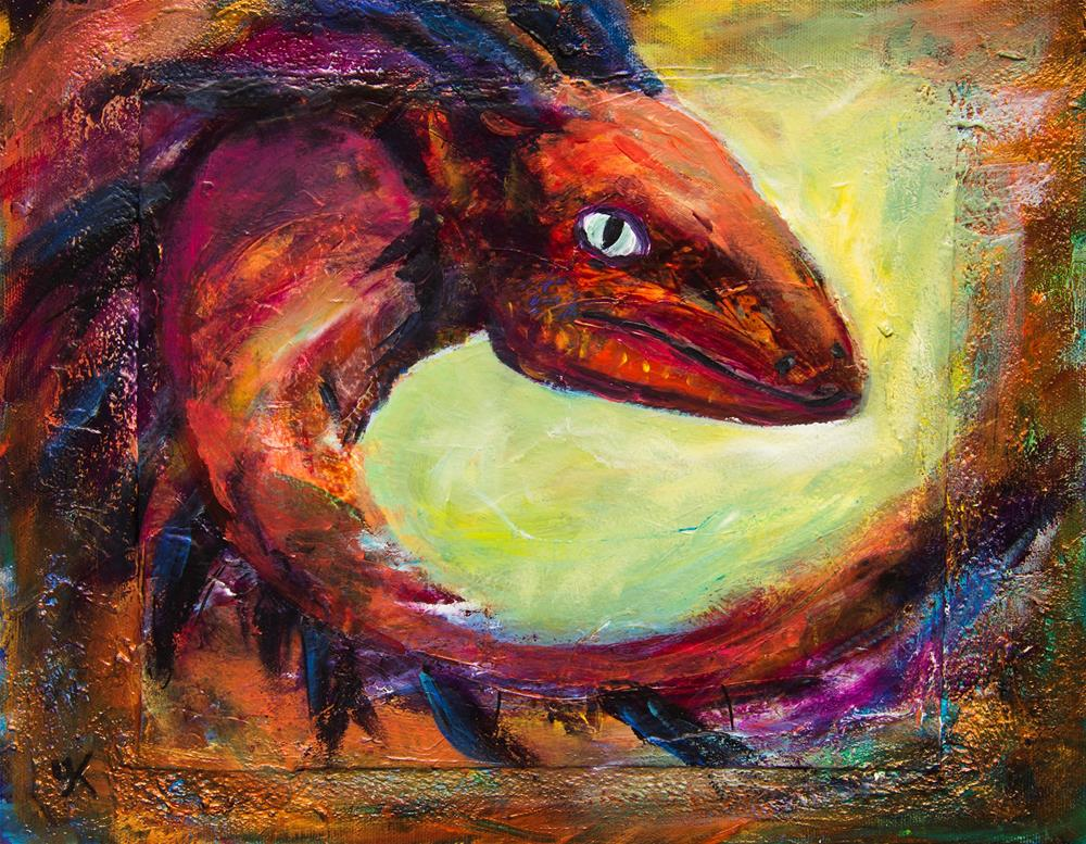 """Red Dragon"" original fine art by Yulia Kazansky"
