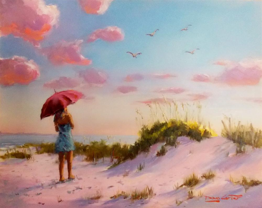 """"""" LOVING the BEACH """" original fine art by Doug Carter"""