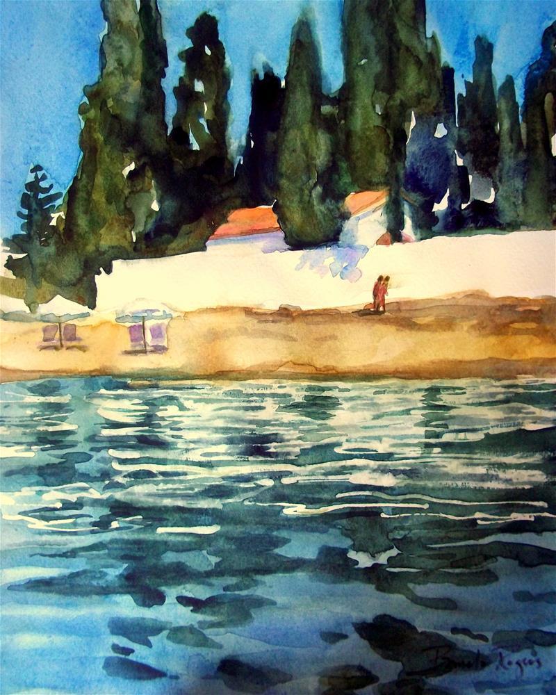 """""""Dans La Mer"""" original fine art by Pamela Jane Rogers"""