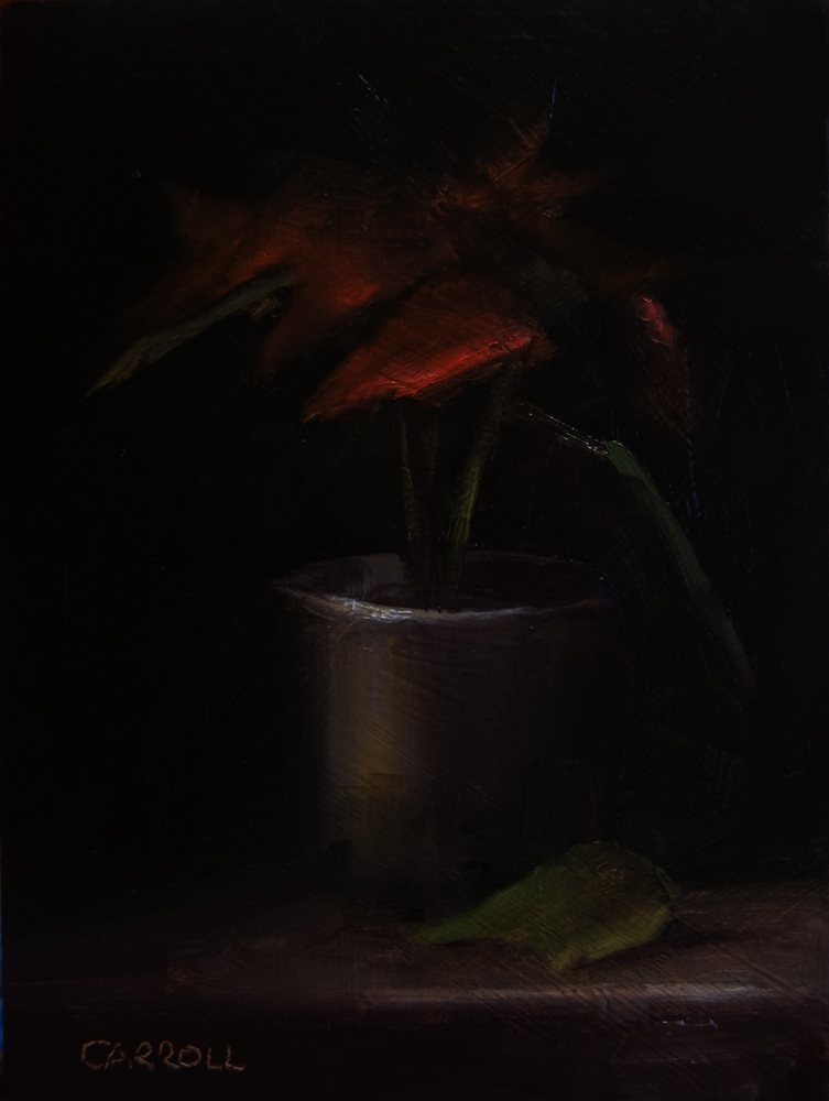 """Poinsettias"" original fine art by Neil Carroll"
