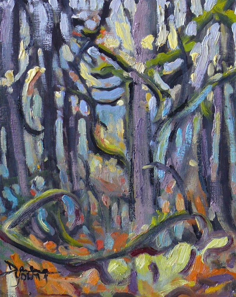 """778 BC Autumn Forest"" original fine art by Darlene Young"