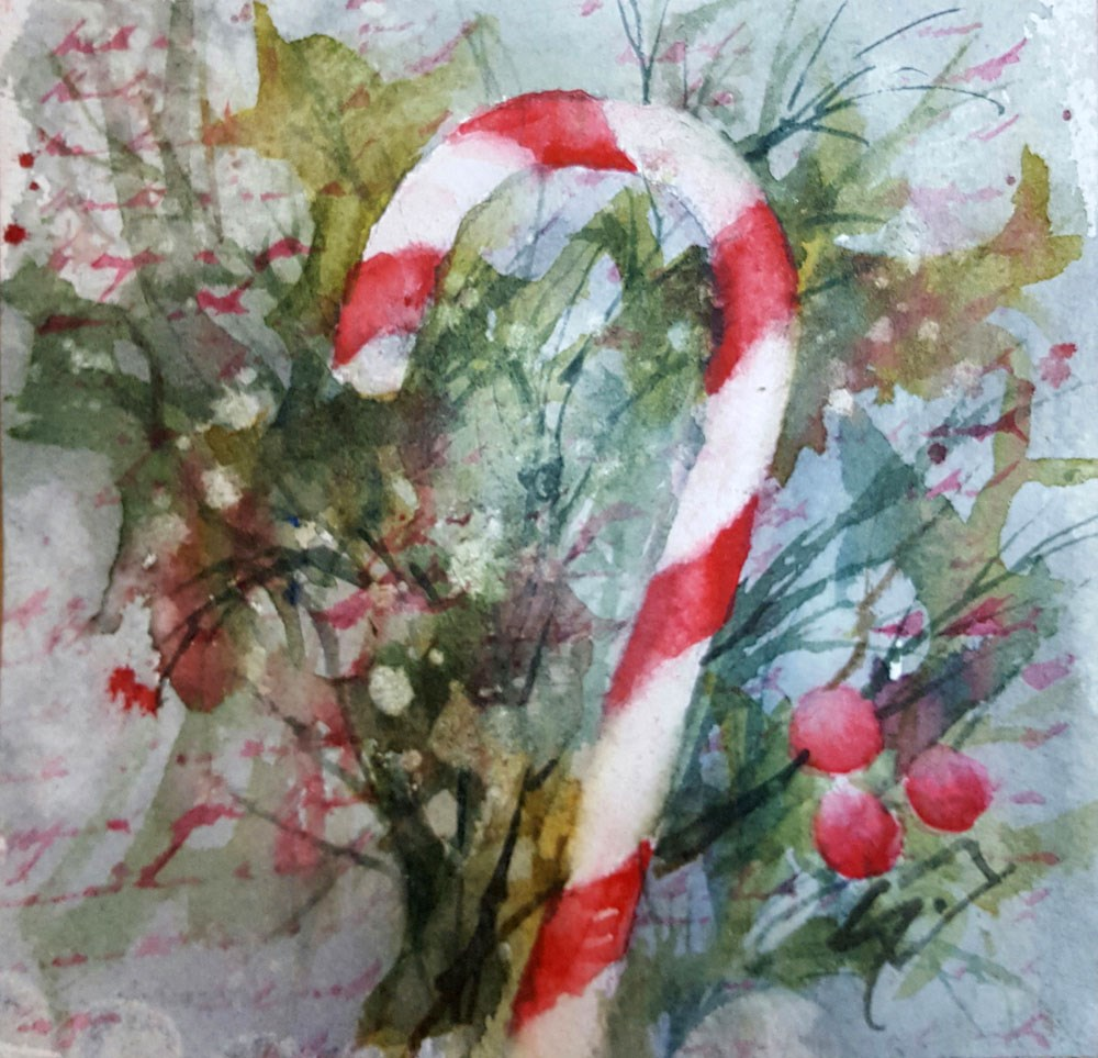 """""""Christmas Candy !!"""" original fine art by Sue Dion"""