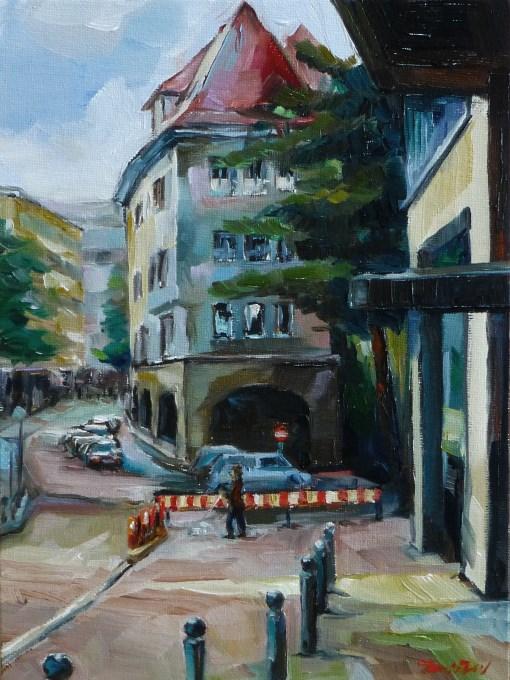 """Stuttgart, Nadlerstraße"" original fine art by Jurij Frey"