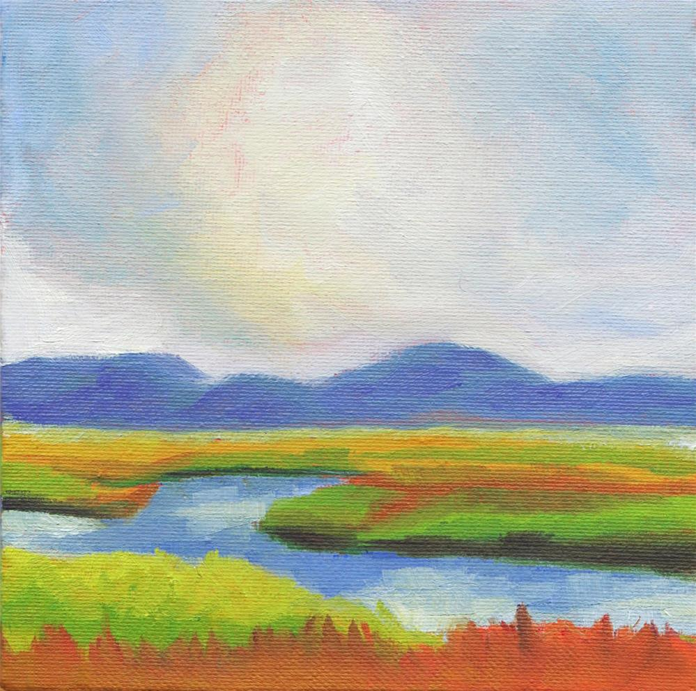 """Blue Marsh"" original fine art by Susan Bertocci"