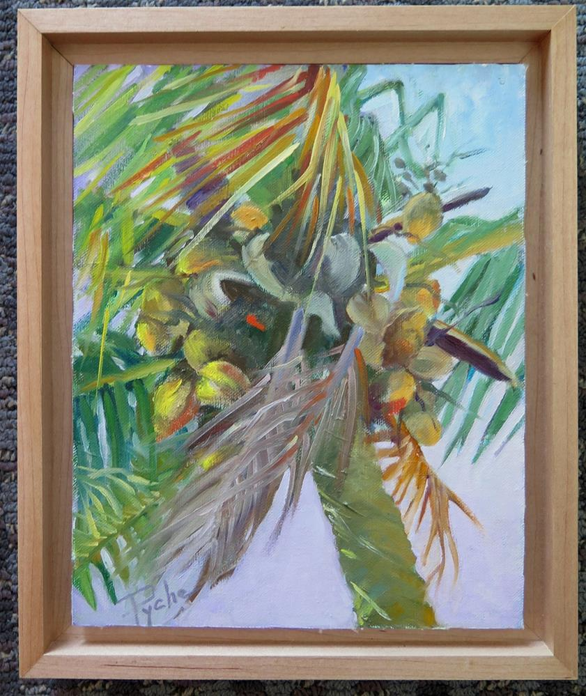 """""""Palm Tree at the Beach 8x10"""" original fine art by Mary Pyche"""