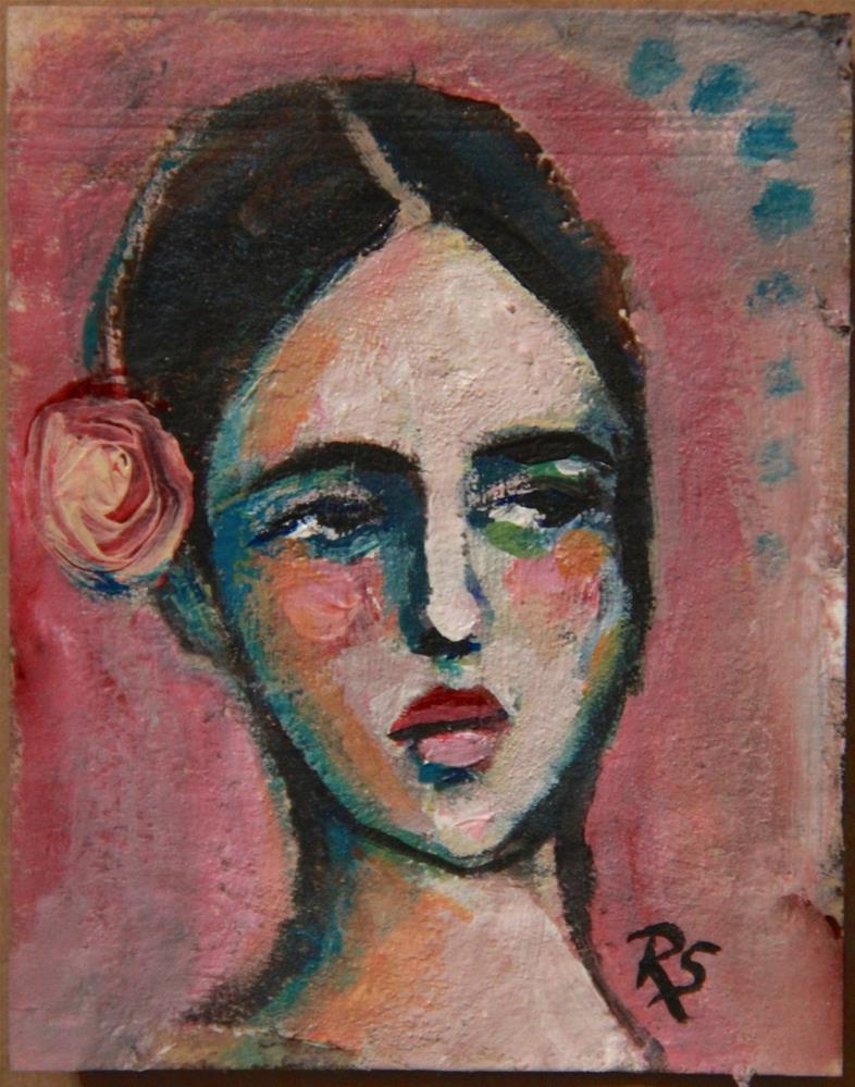 """Tea Bag Portrait - Marianna"" original fine art by Roberta Schmidt ArtcyLucy"