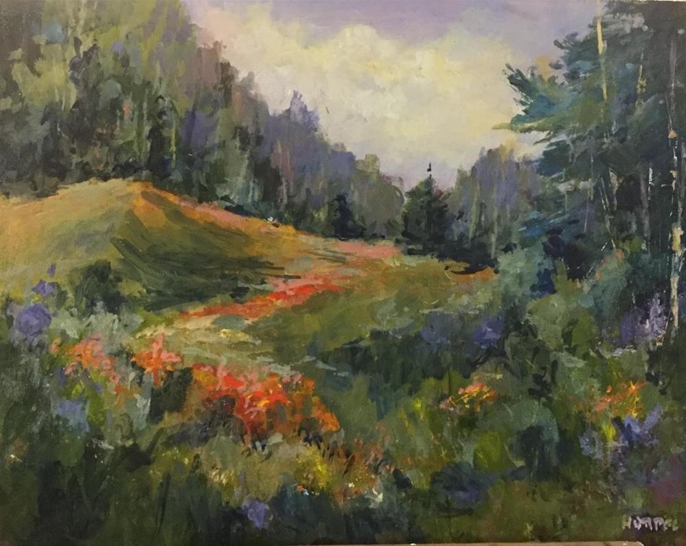 """Meadow in Bloom acrylic painting "" original fine art by Alice Harpel"