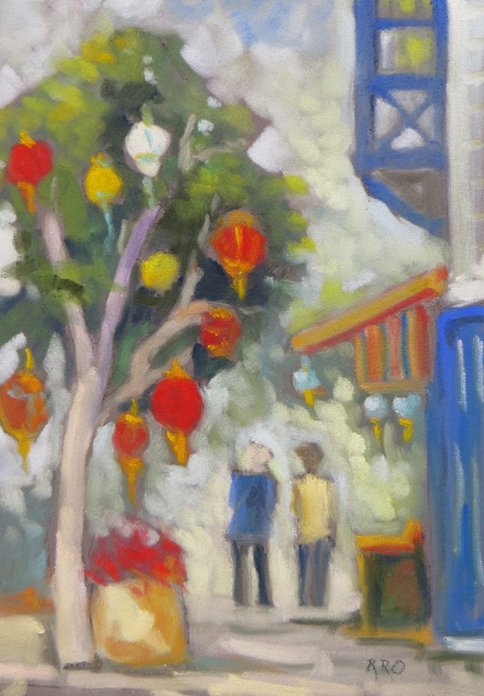 """Paper Lanterns in Pacific Grove"" original fine art by Rhett Regina Owings"