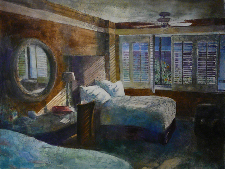 """Monotype: Monterey Retreat"" original fine art by Belinda Del Pesco"