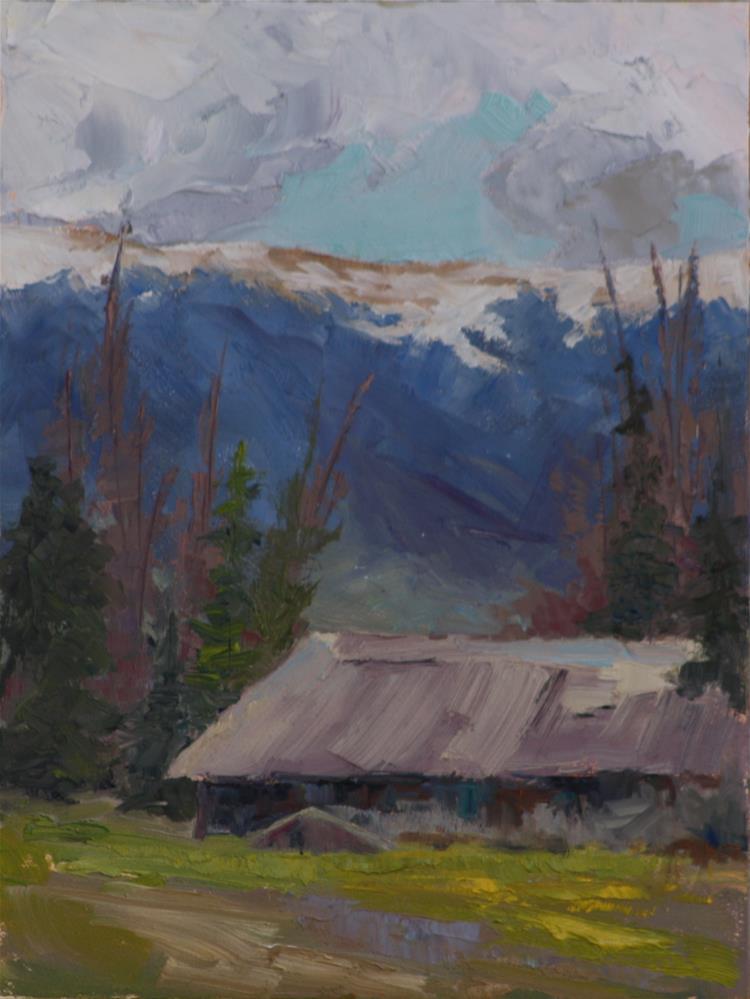 """""""Long Barn on the Way to Byers Peak"""" original fine art by Sheila Marie"""