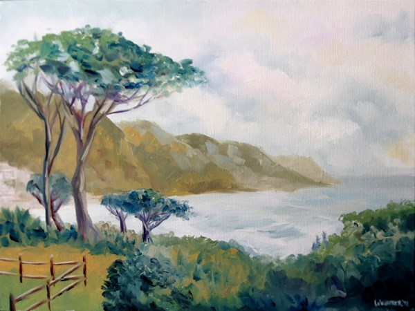 """""""Mark Adam Webster - Lower Kloof Road, Cape Town, South Africa Oil Painting"""" original fine art by Mark Webster"""