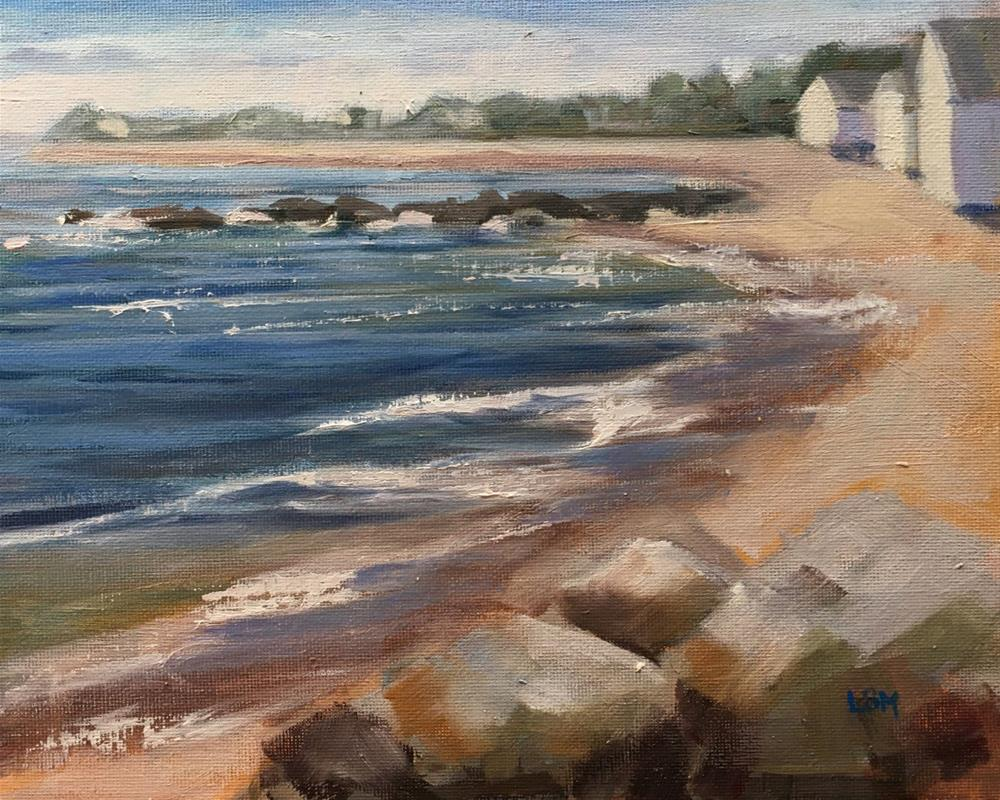 """Sparkling Waters in Madison CT"" original fine art by Linda Marino"