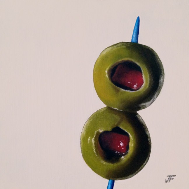 """Two Olives Study"" original fine art by Jelaine Faunce"