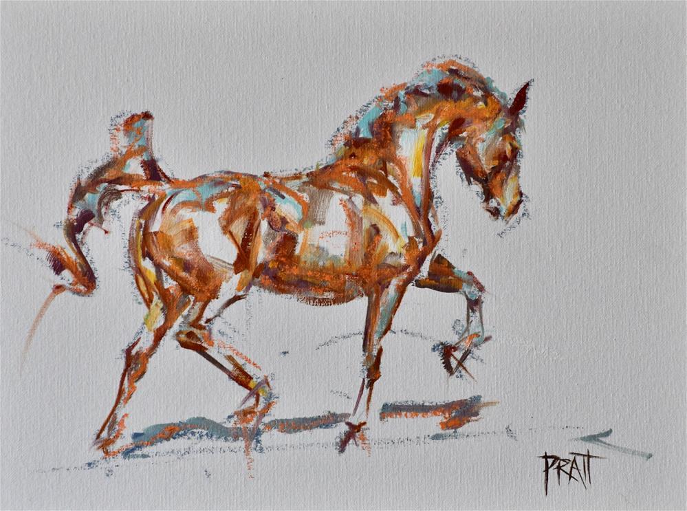 """""""Oil Bar Trot Study"""" original fine art by Jennifer Pratt"""
