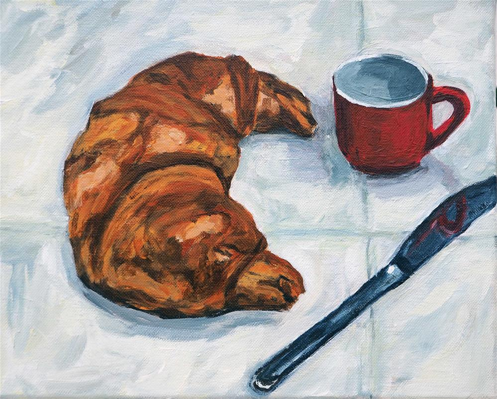 """Croissant"" original fine art by Eva Grünwald"