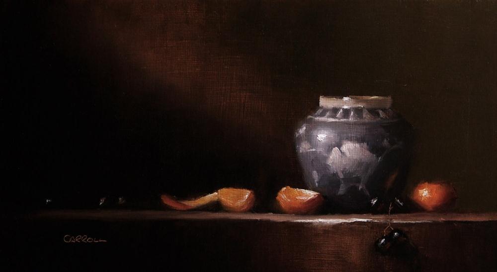 """""""Ginger Jar"""" original fine art by Neil Carroll"""