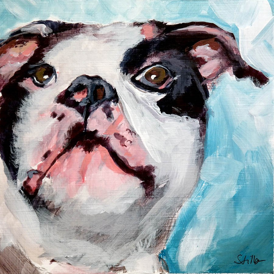 """1969 Bulldog"" original fine art by Dietmar Stiller"