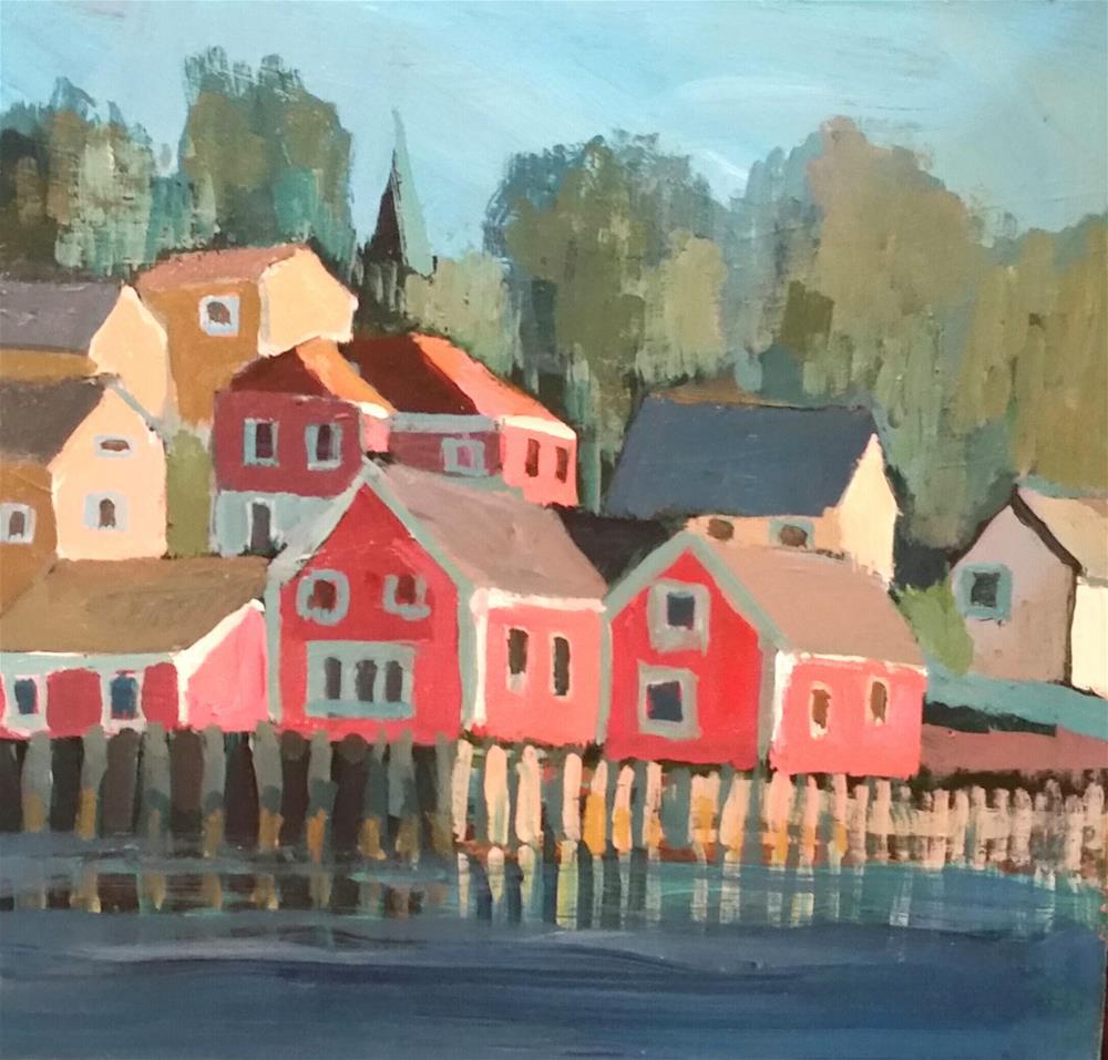 """""""Lunenburg"""" original fine art by Liz Maynes"""