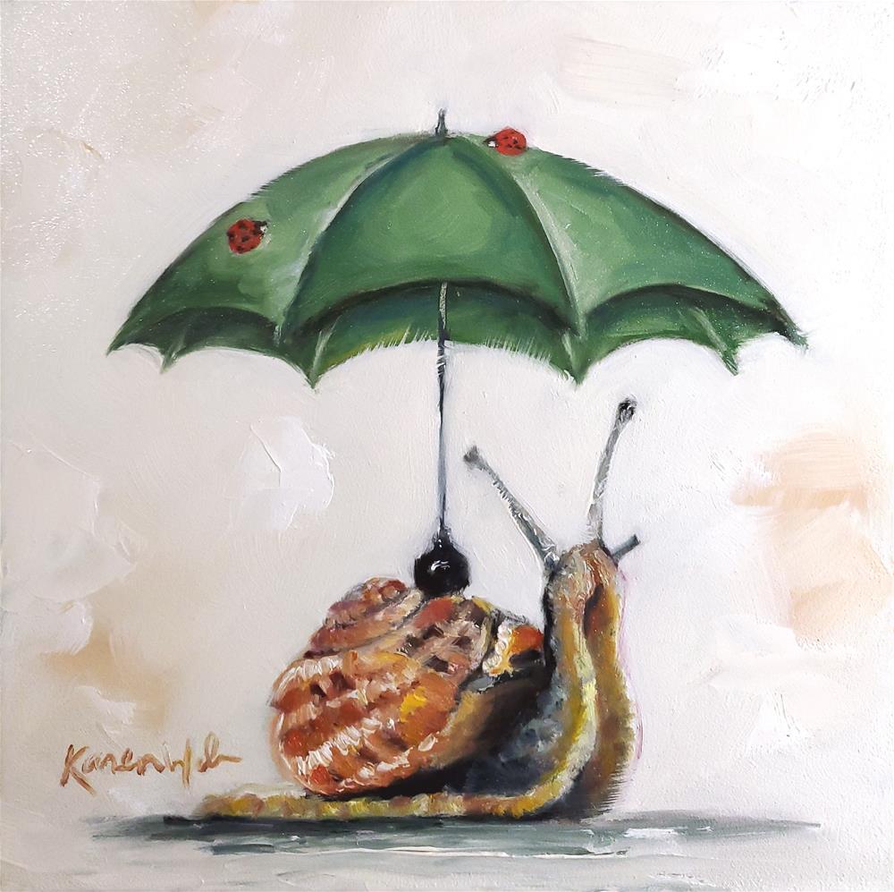 """The Joy of slowing Down"" original fine art by Karen Weber"