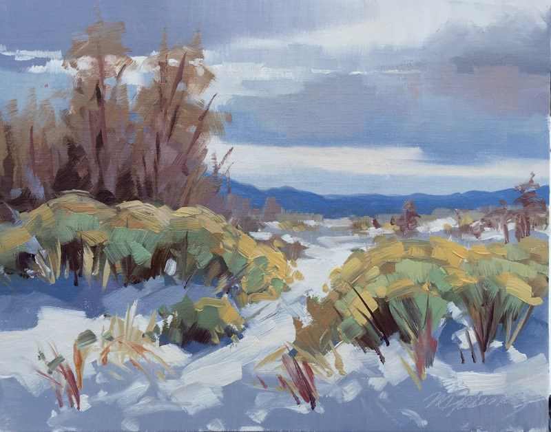 """""""More Snow is Coming"""" original fine art by Mary Jabens"""