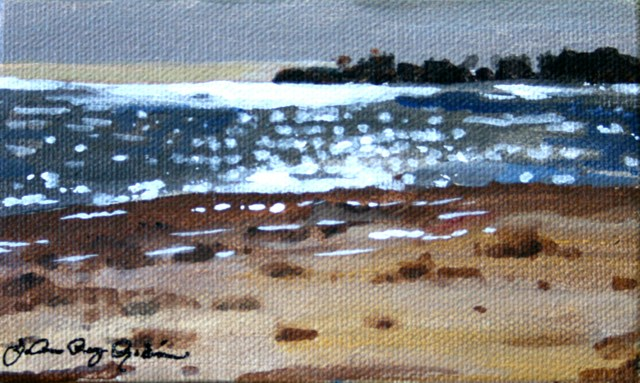 """Sparkly Sea"" original fine art by JoAnne Perez Robinson"