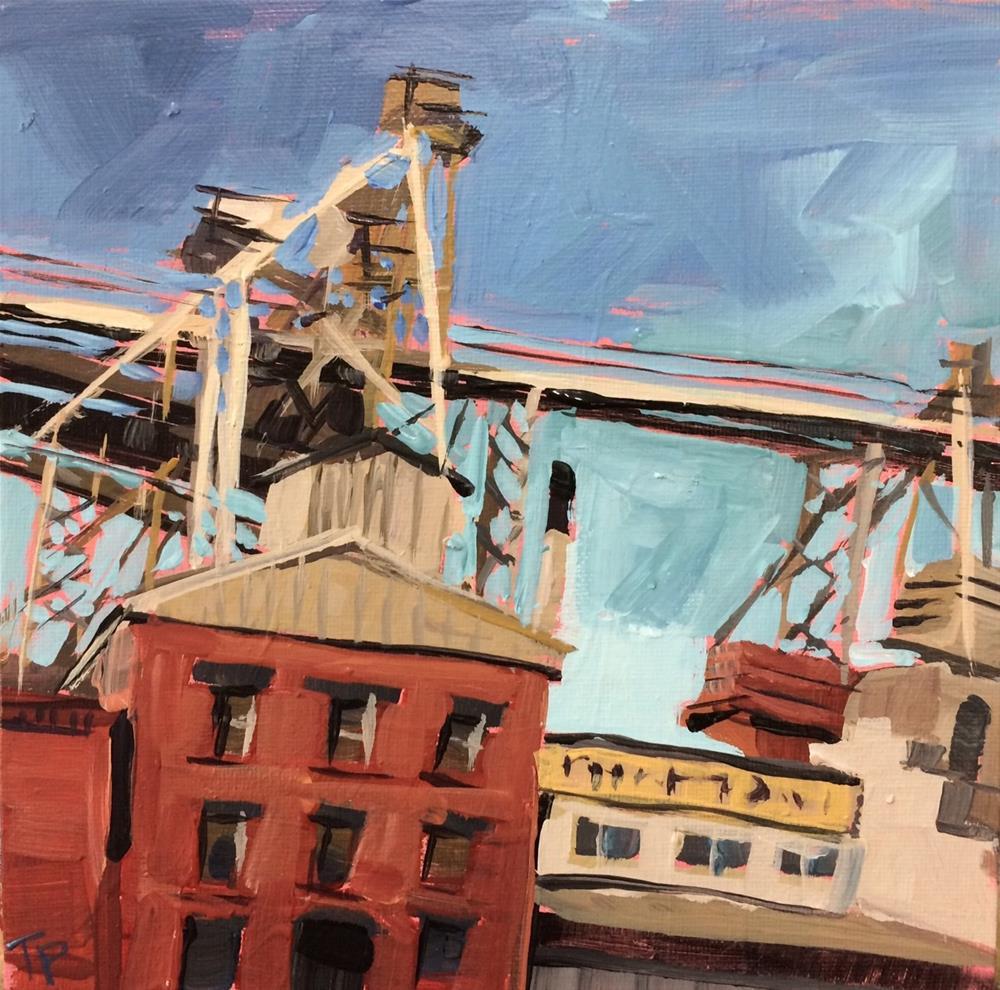 """Familiar Fort Collins Scene"" original fine art by Teddi Parker"
