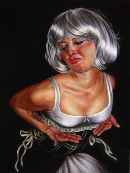 """""""Gettin Wiggy Wit It #2"""" original fine art by Angela Hardy"""