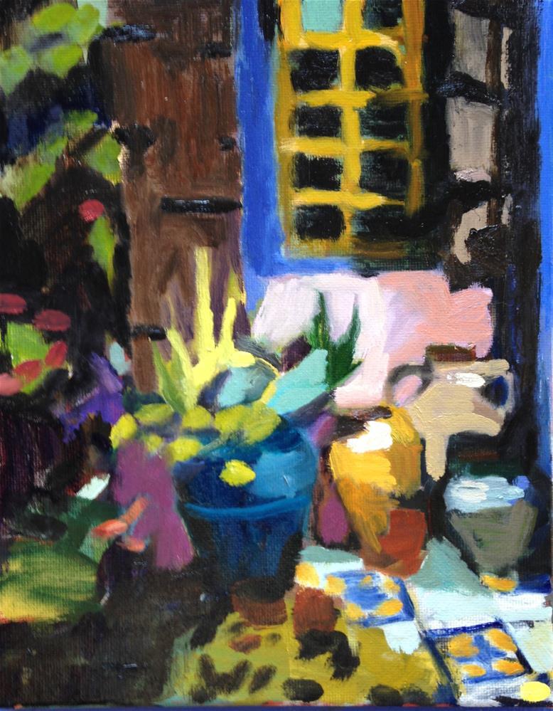 """""""Garden Tour"""" original fine art by Pamela Hoffmeister"""