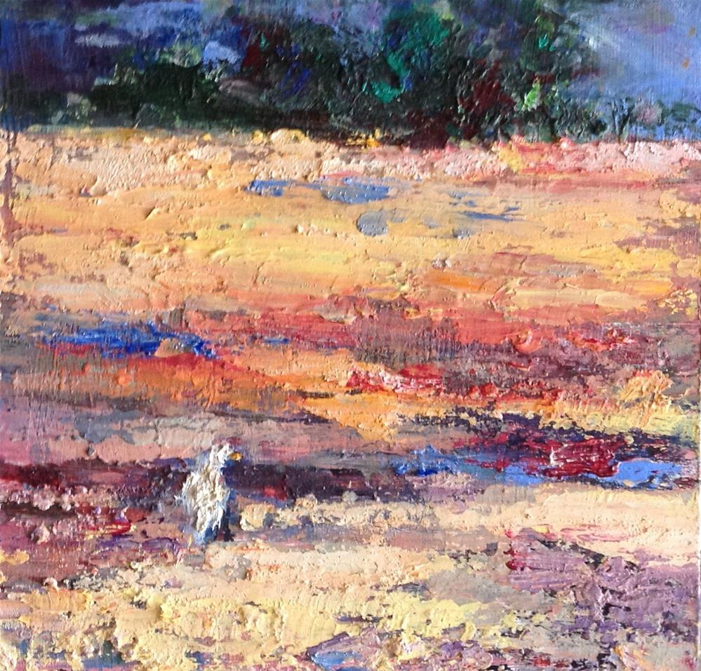 """Scavenging at Low Tide"" original fine art by Judy Usavage"