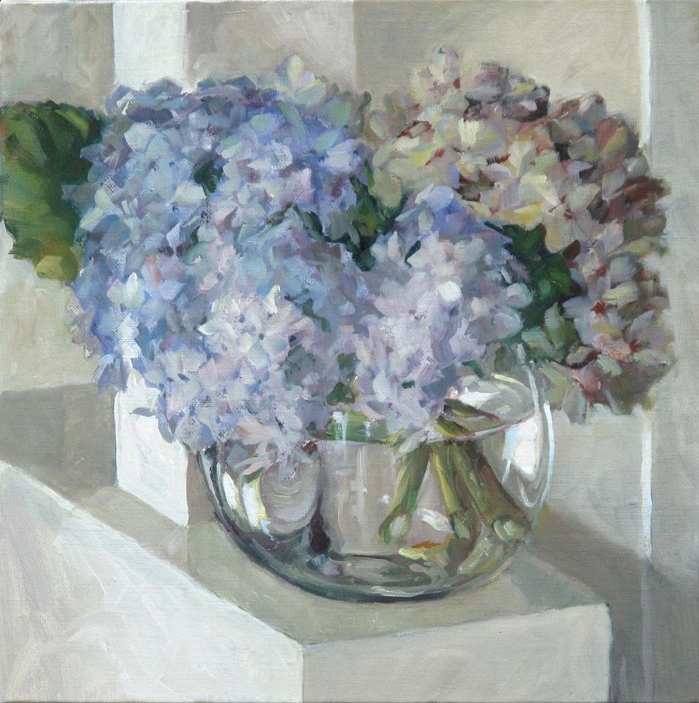"""Hydrangias"" original fine art by Myriam Kin-Yee"