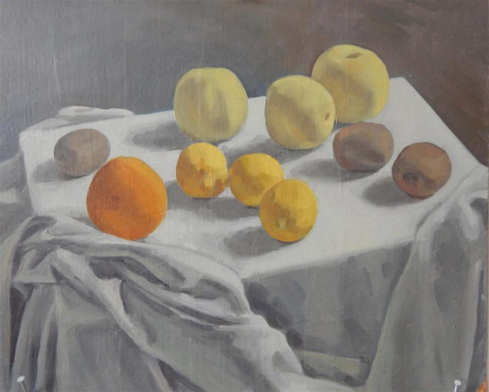 """Fruit Still Life"" original fine art by Megan Schembre"