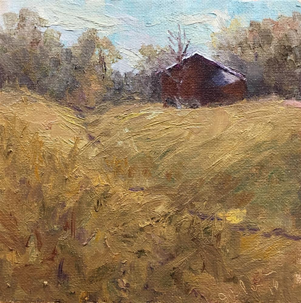 """""""Ames Crossing"""" original fine art by Judith Anderson"""