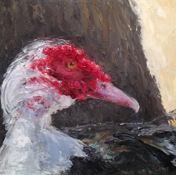"""Muscovy Duck"" original fine art by Lori L. Lamb"