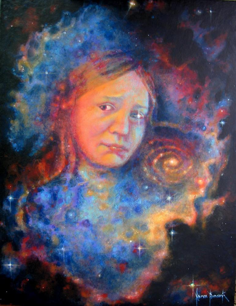"""Galaxy Girl"" original fine art by Karen Roncari"