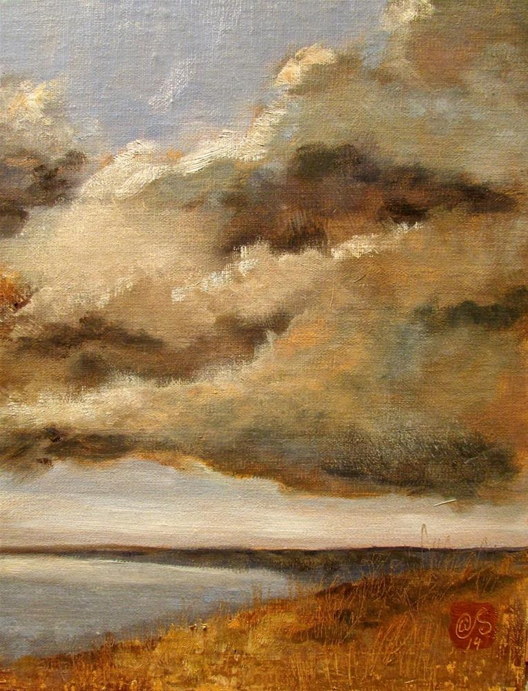 """The Rain Stayed in the Cloud"" original fine art by Aurelio Saiz"