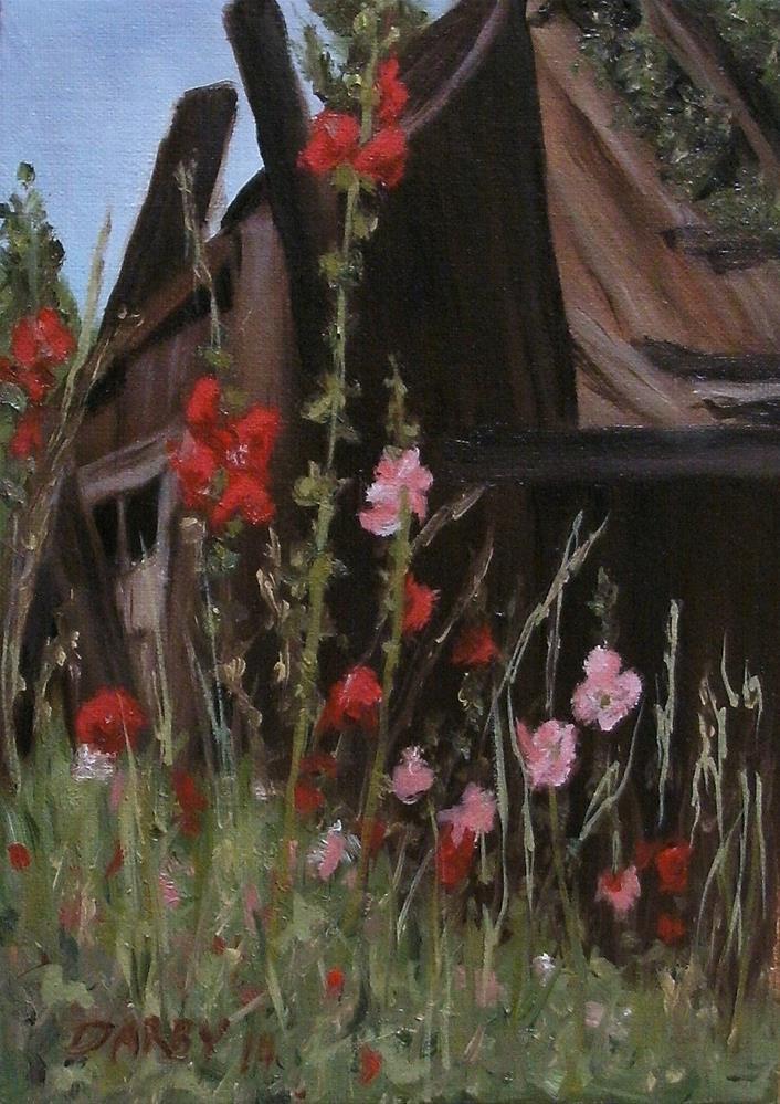 """Ramshackle"" original fine art by Lynn Darby"