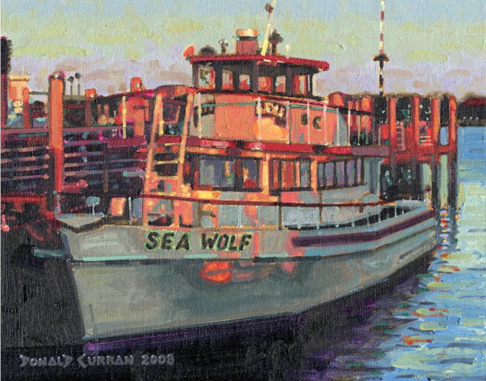 """Sea Wolf"" original fine art by Donald Curran"