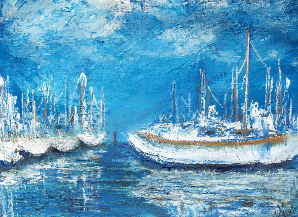"""Harbor Reflections"" original fine art by Niki Hilsabeck"