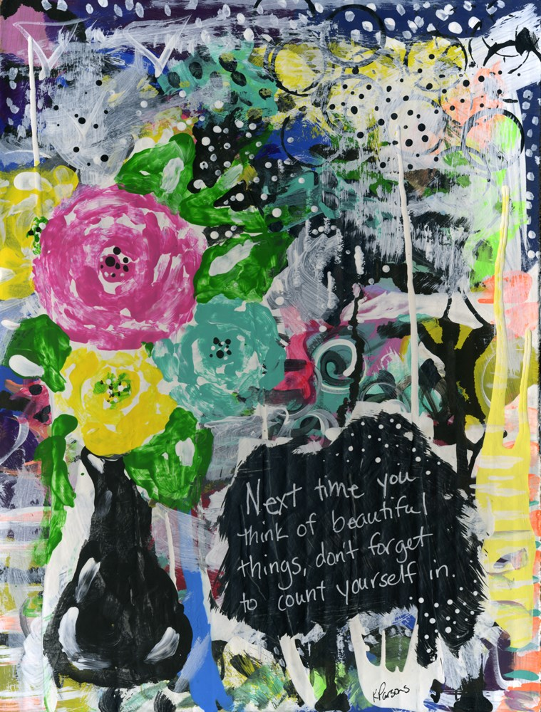 """Beautiful"" original fine art by Kali Parsons"