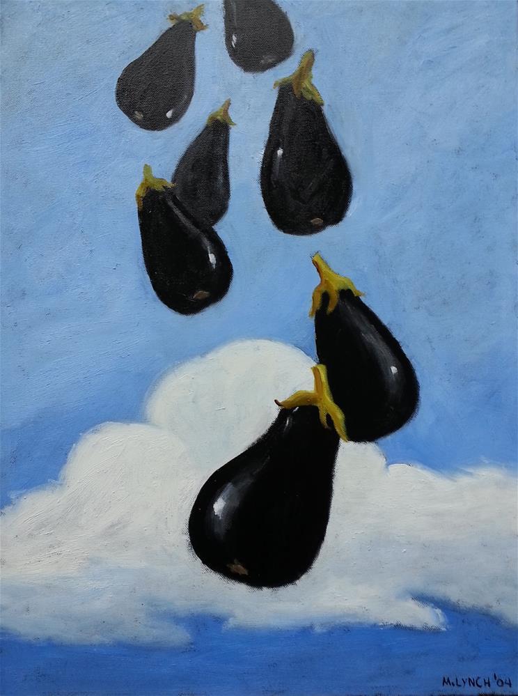 """""""Flying Eggplant II"""" original fine art by Marie Lynch"""