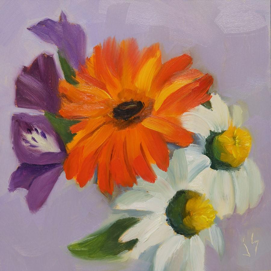 """""""Summer Bouquet"""" original fine art by Johnna Schelling"""