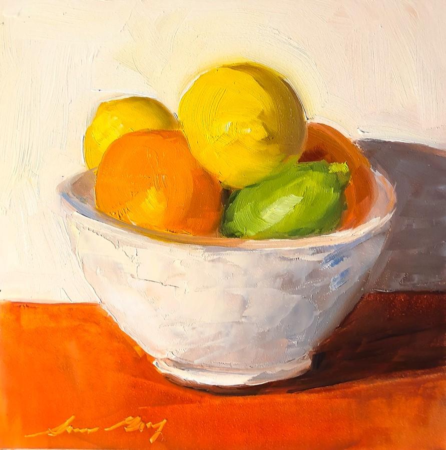 """""""#192 - Fruit Bowl"""" original fine art by Sara Gray"""