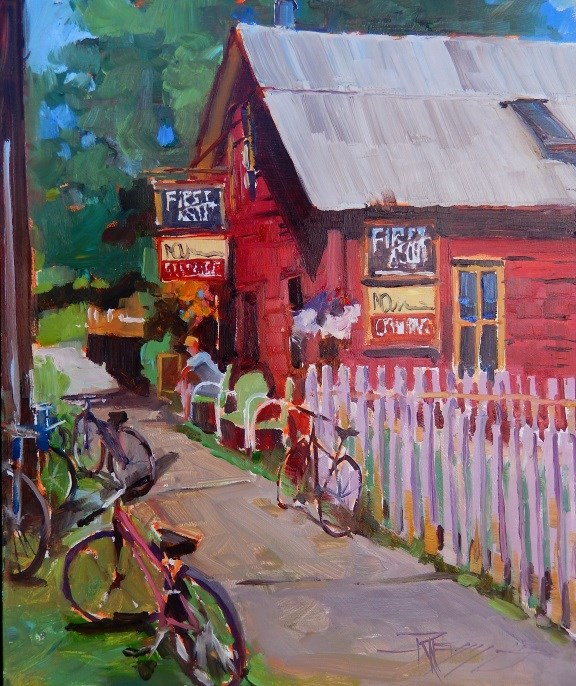 """First Ascent Quick Draw, Crested Butte Plein Air Open by Robin Weiss"" original fine art by Robin Weiss"