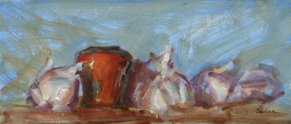 """Purple Garlic"" original fine art by Scott Serafica"