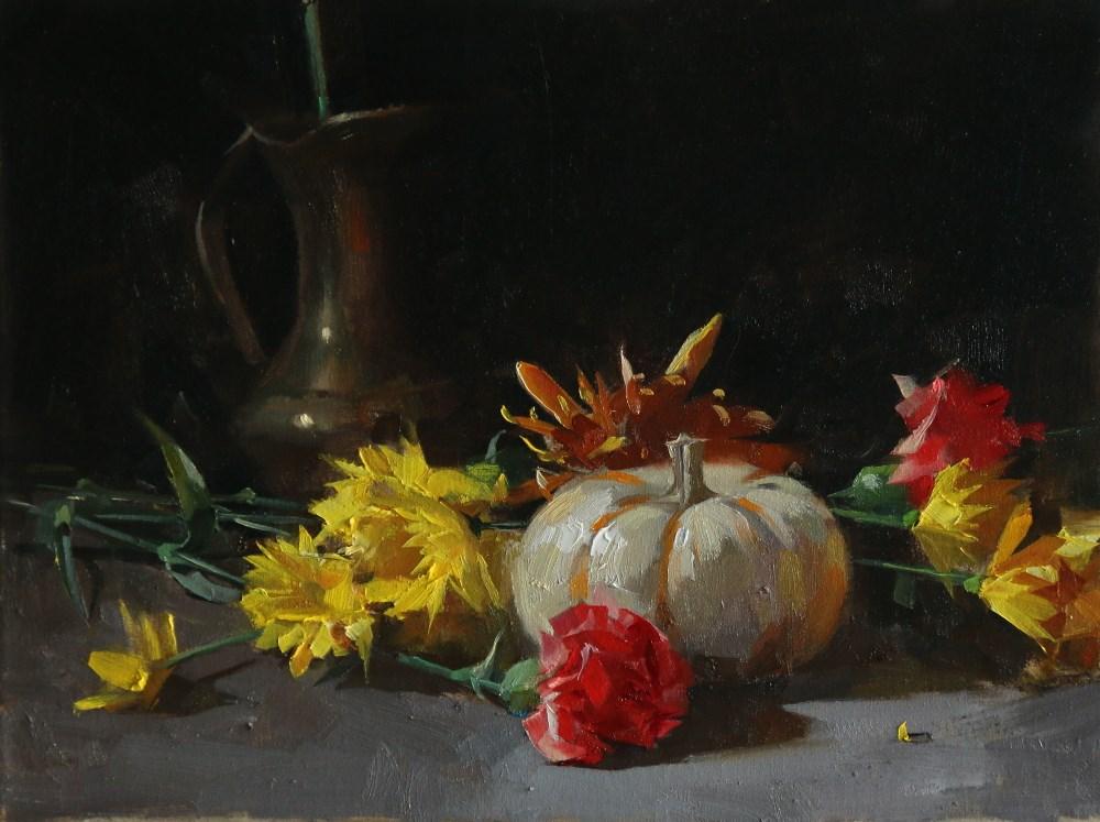 """""Fall Blossoms"" original fine art by Qiang Huang"